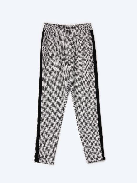 Mrkváčové kalhoty s bočním proužkem
