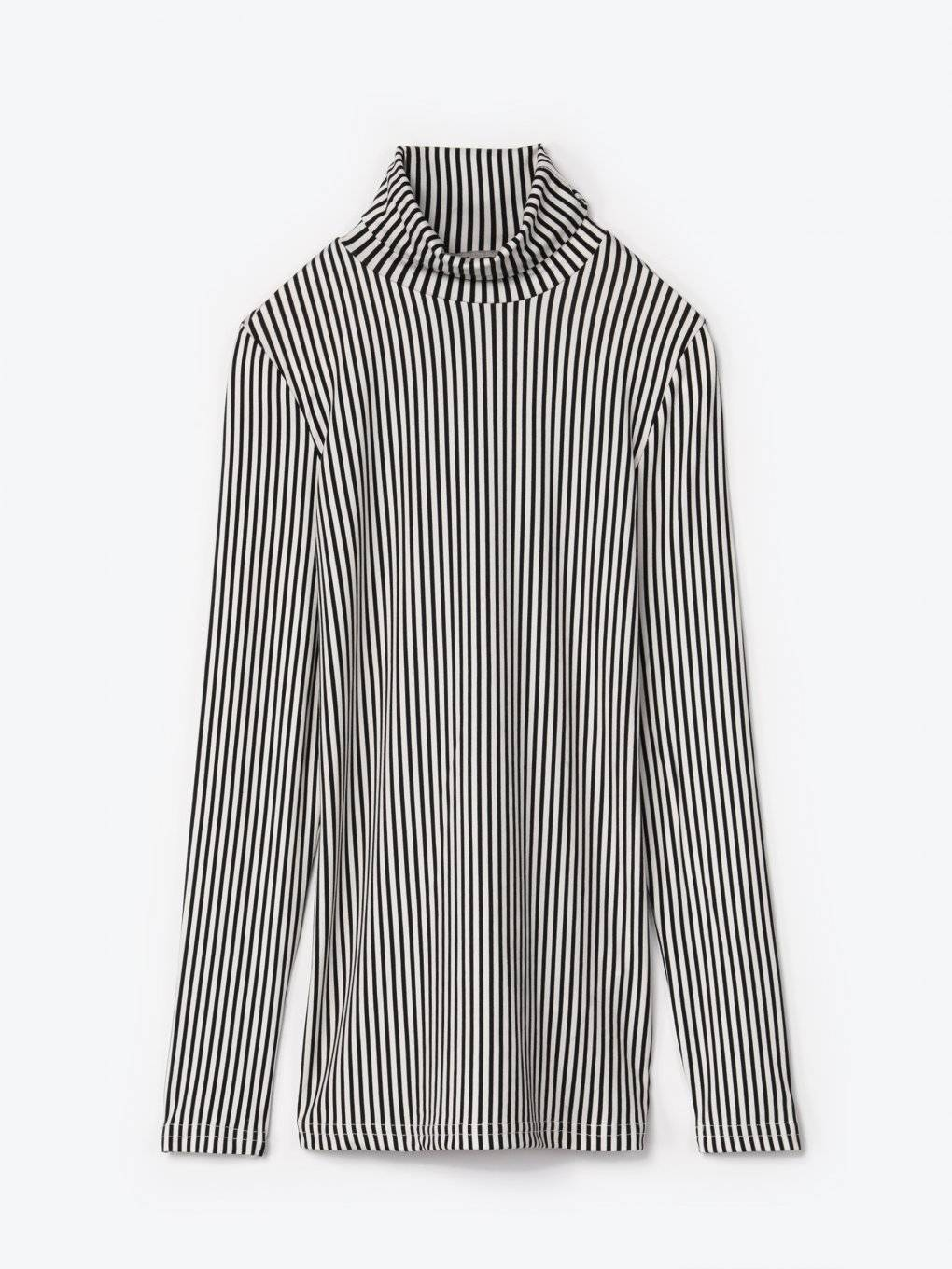 Striped turtleneck t-shirt