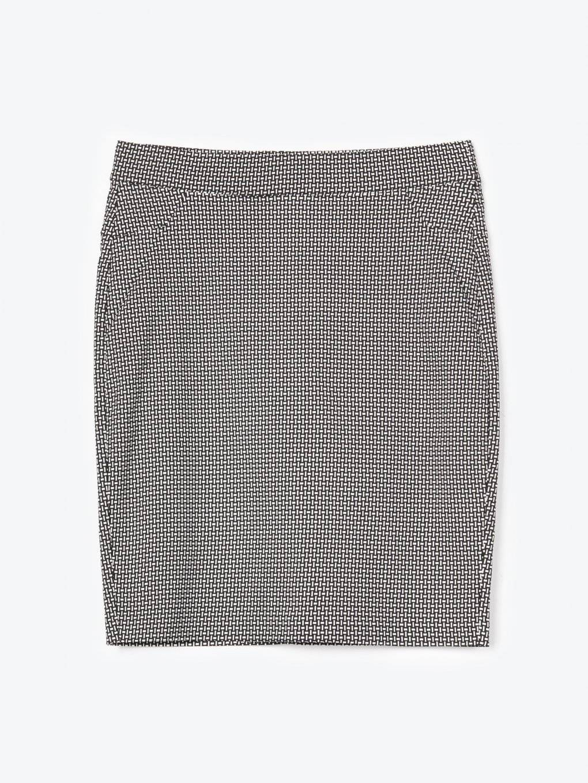 Monochrome print bodycon skirt