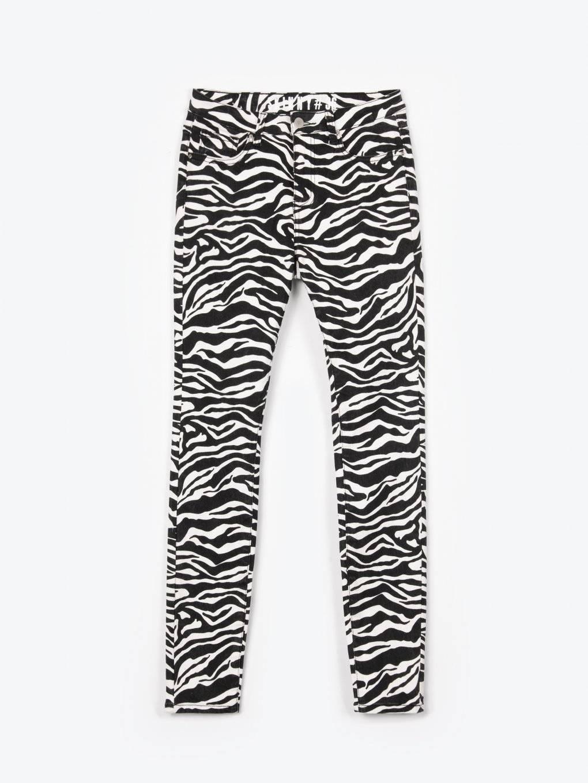 Animal print skinny jeans