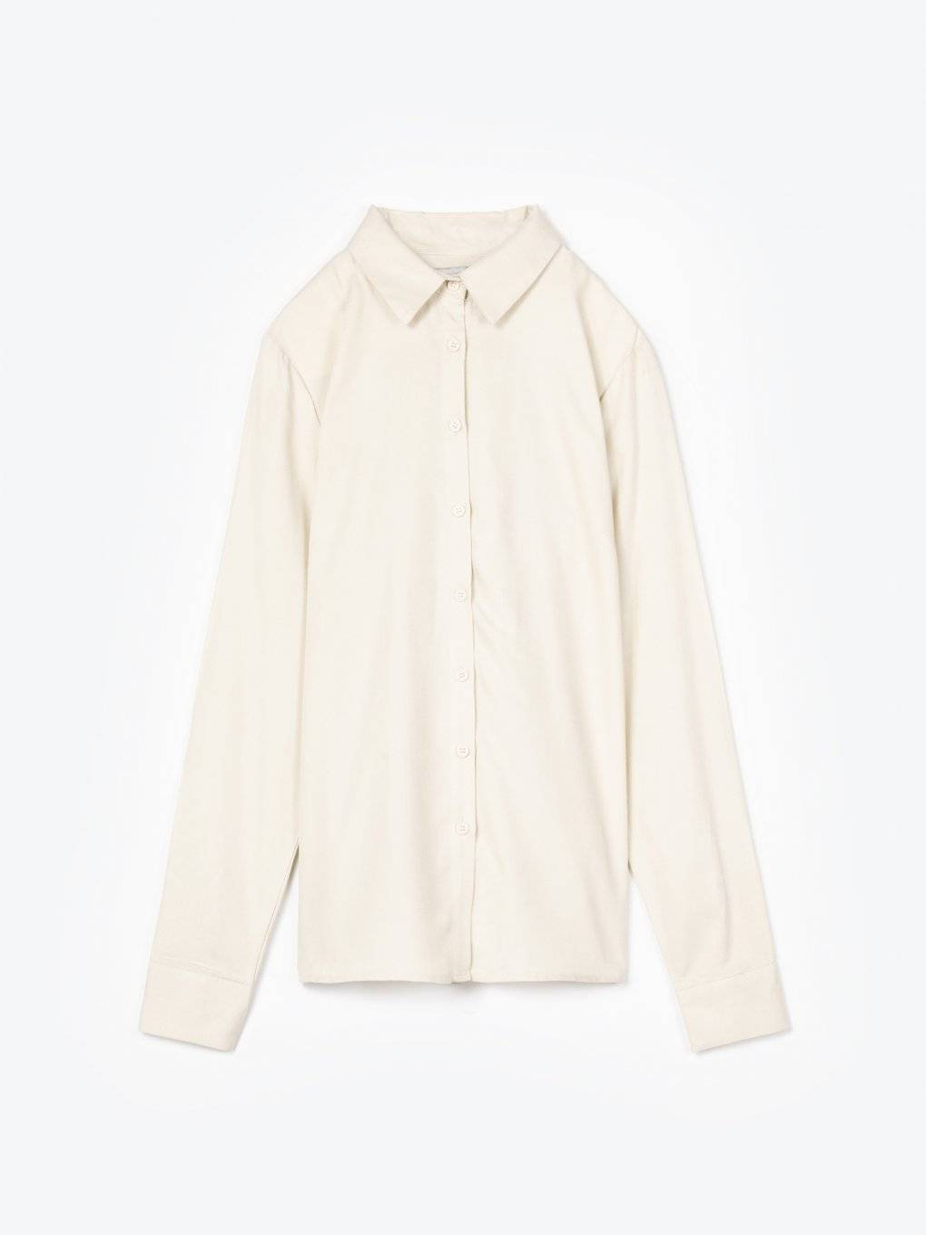 Plain viscose shirt