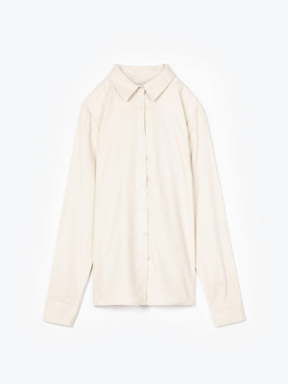 Jednobarevná viskózová košile
