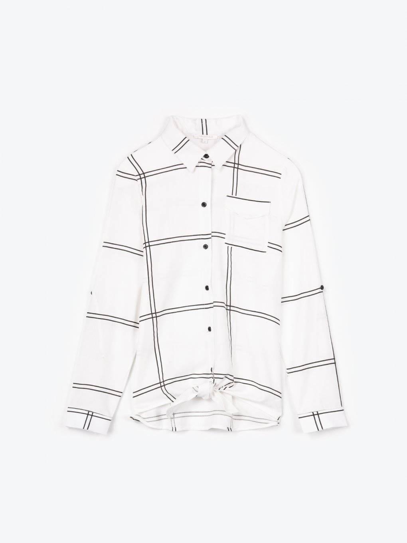 Košile s potiskem a uzlem