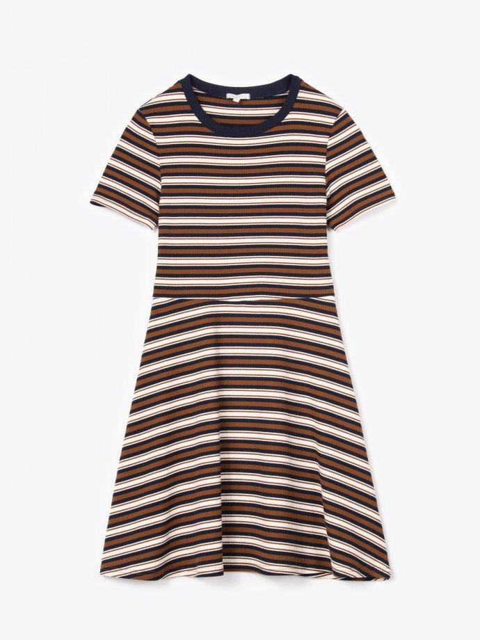 Striped skater dress