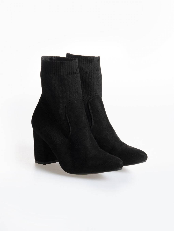 Členkové čižmy na blokovom podpätku s ponožkou
