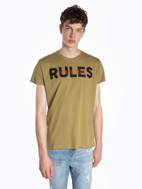 Tričko s potlačou s neopracovaným lemom