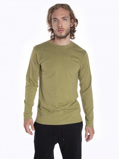 Základné tričko slim fit s dlhým rukávom