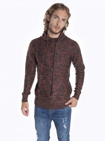 Turtleneck sweater in twisted yarn