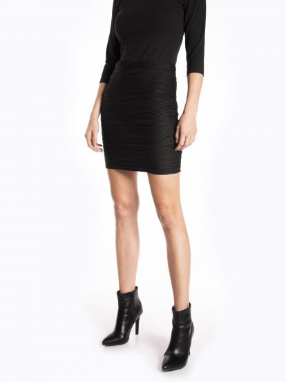 Bodycon structured mini skirt