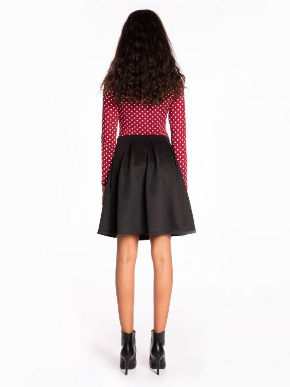 Polka dot print bodysuit