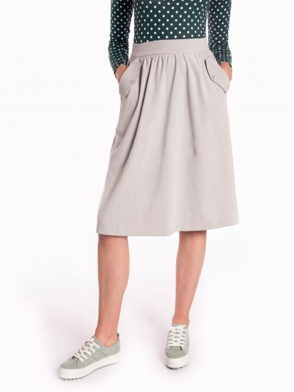 Midi skirt with pockets