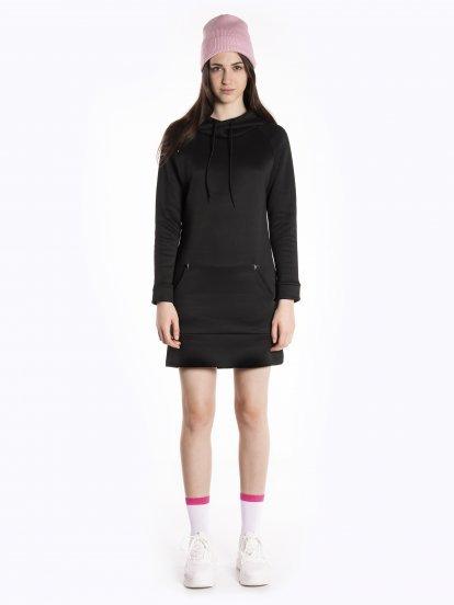 Warm sweatshirt dress