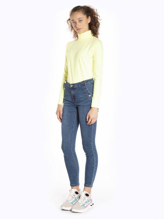 Neon turtleneck t-shirt