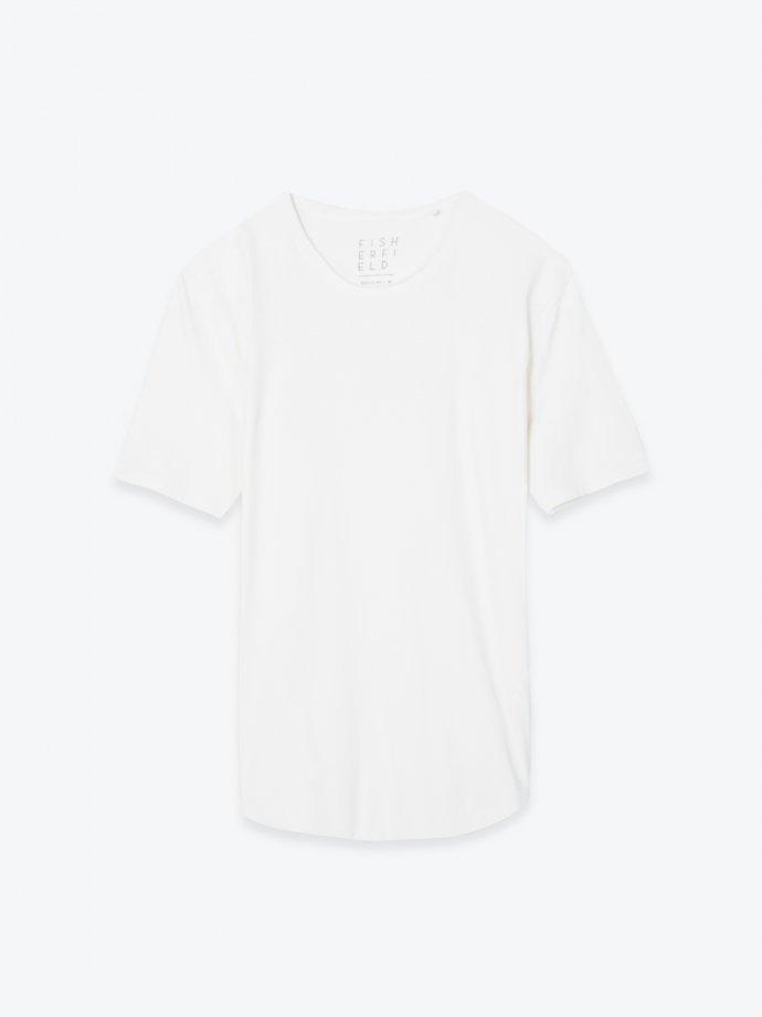 Longline stretch jersey t-shirt