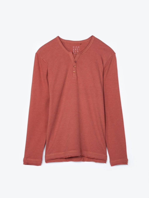 Tričko s dlouhým rukávem a knoflíky