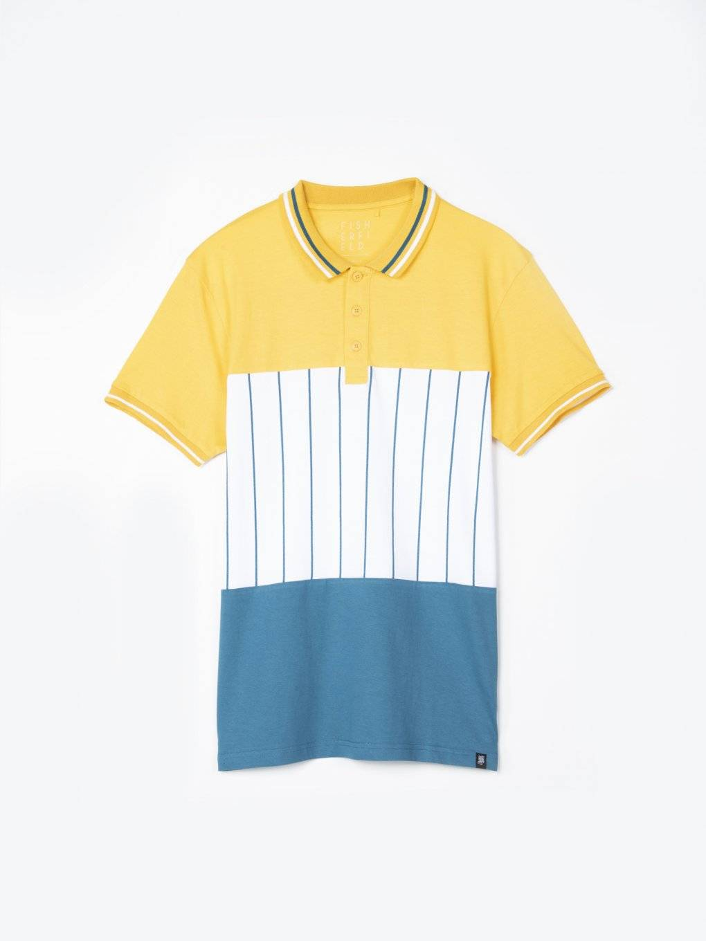 Colour block short sleeve polo shirt