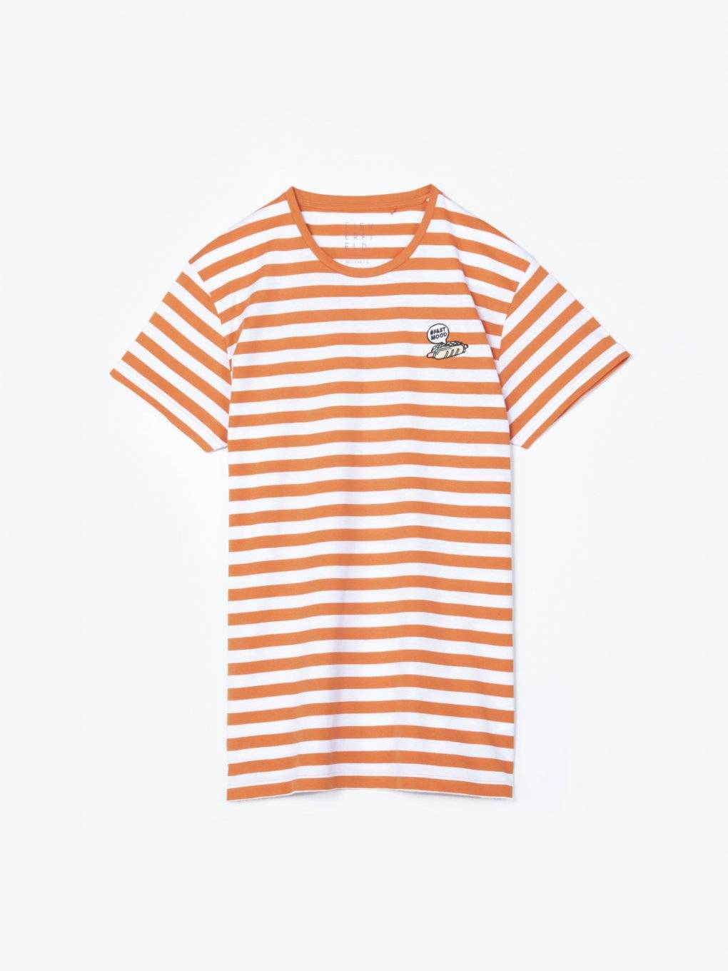 Striped t-shirt with embroidery