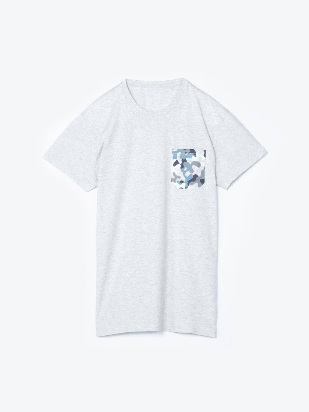 T-shirt with printed chest pocket