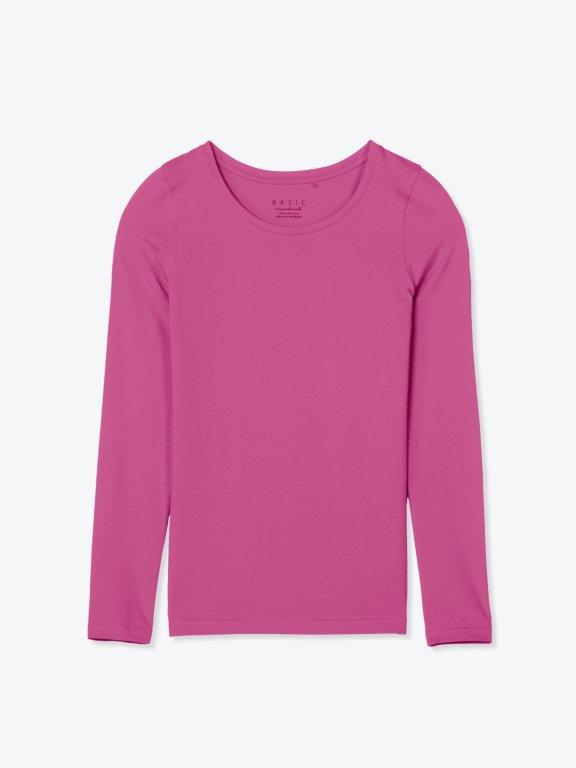 Základné strečové tričko s dlhým rukávom