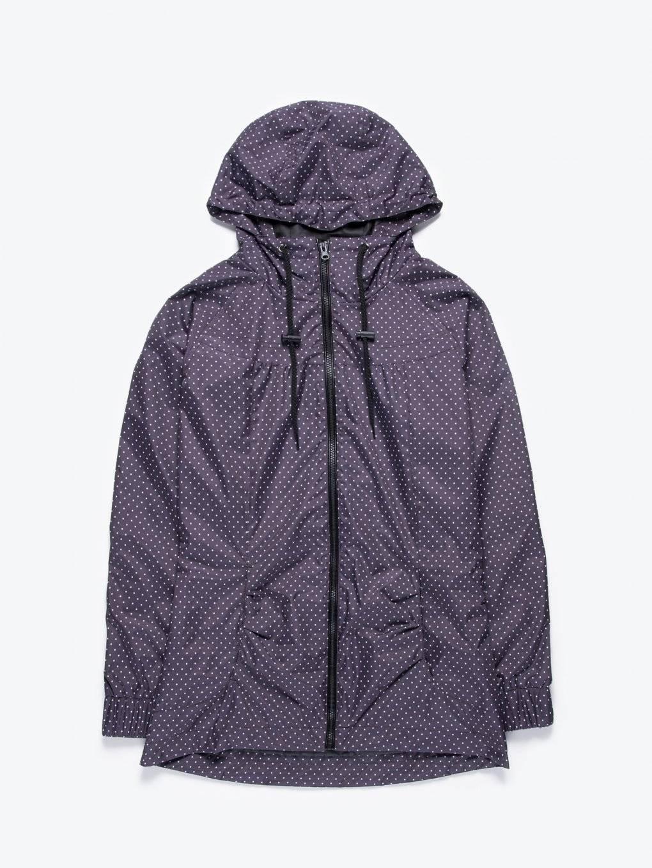 Bodkovaná bunda s kapucňou