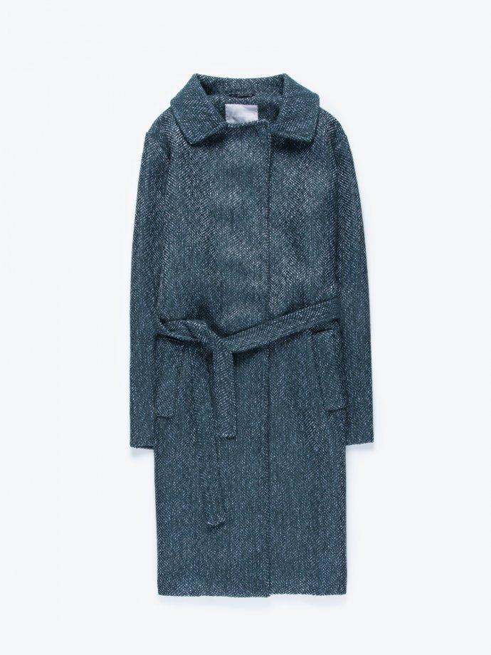 Robe coat with belt
