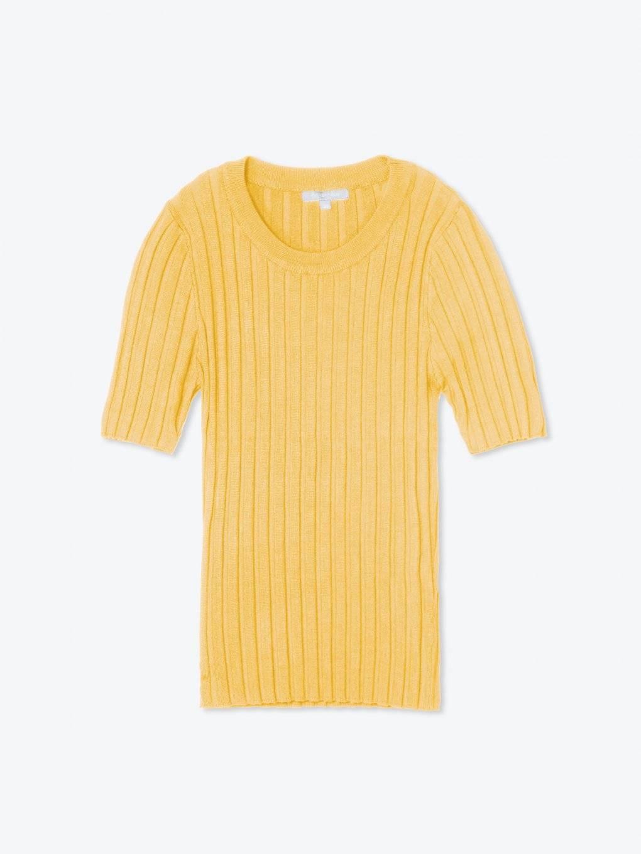 Ribbed short sleeve jumper