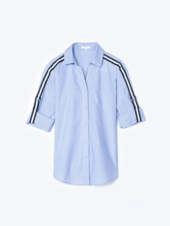 Bavlnená košeľa s ozdobným prúžkom