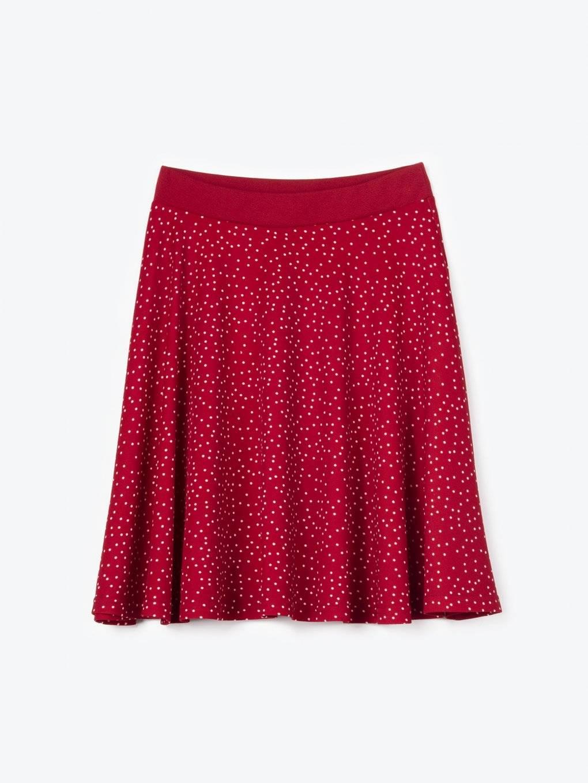 Puntíkovaná áčková sukně