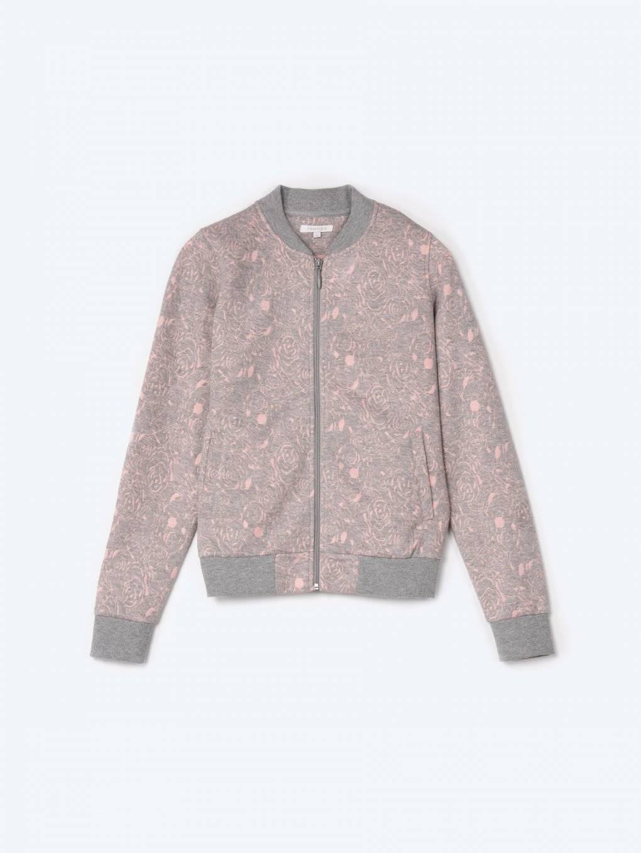 Structured zip-up jacket