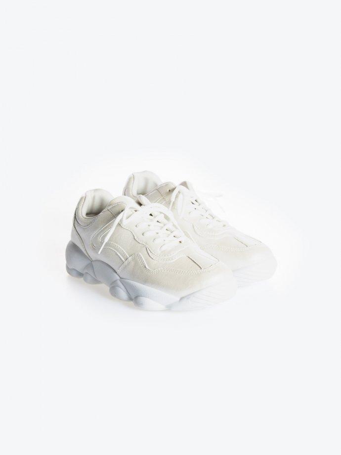 Shiny chunky sneakers