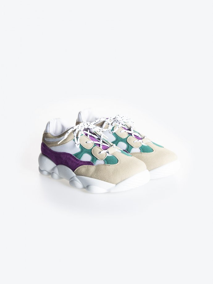 Colourful chunky sneakers