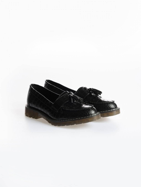 Boty loafers z imitace kůže se strurkturou