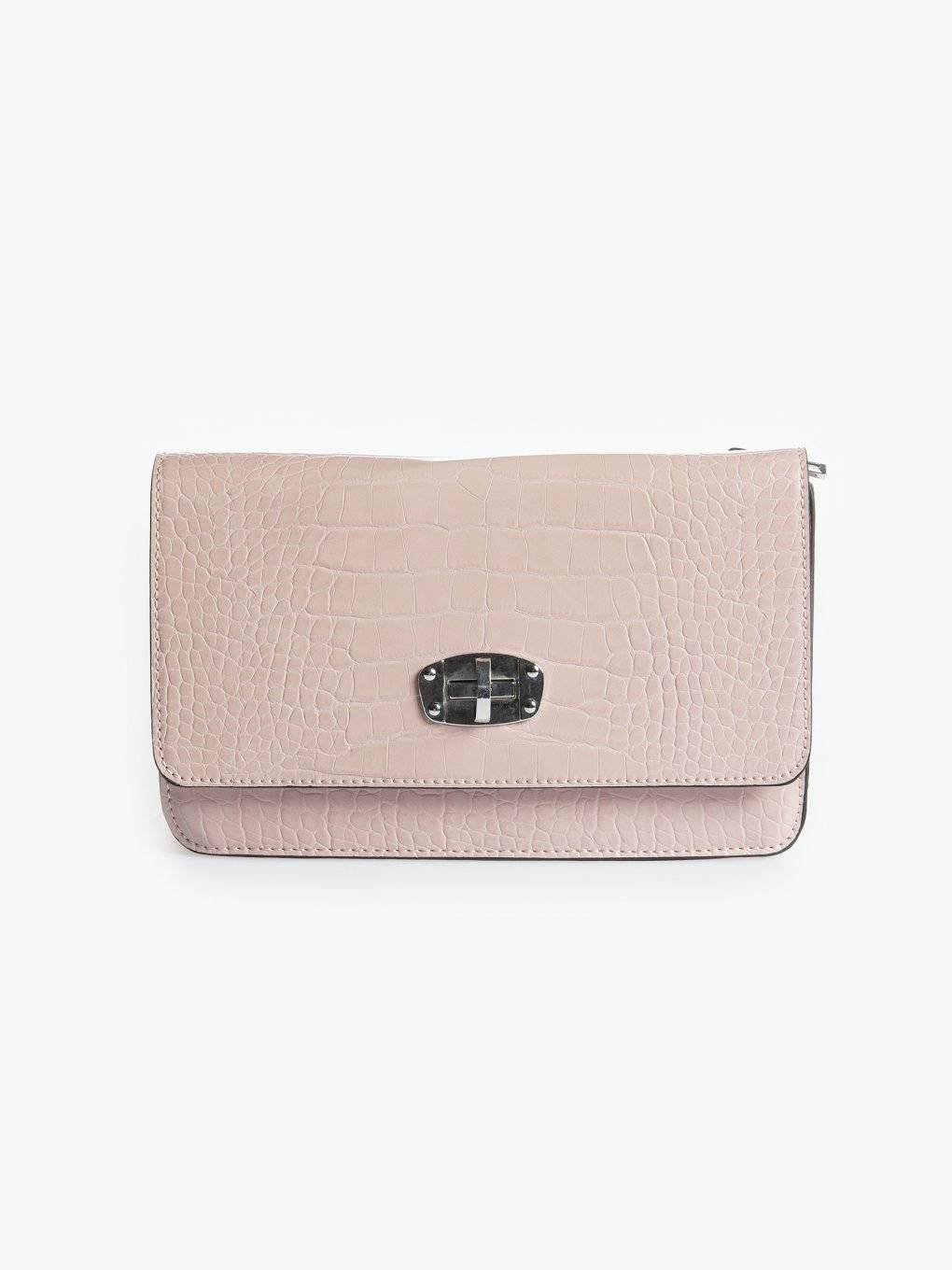 Croc effect crossbody bag