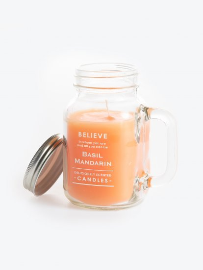 Mandarin scented candle