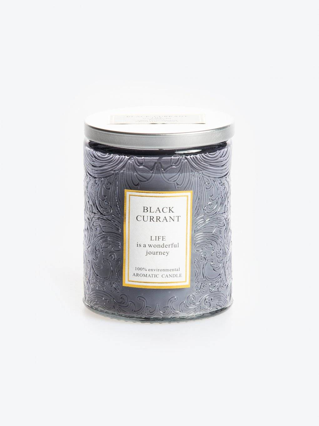 Black currant scented candle