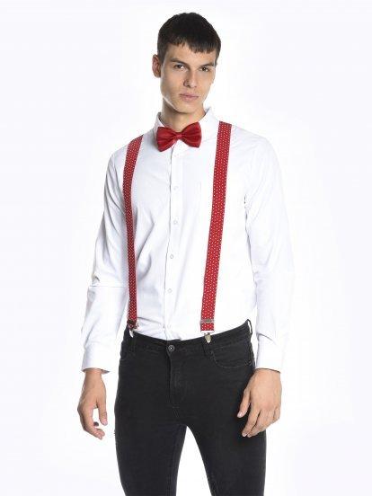 Polka dot braces and bow tie set