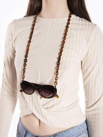 Glasses chain holder