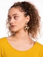Geometric earrings with animal design