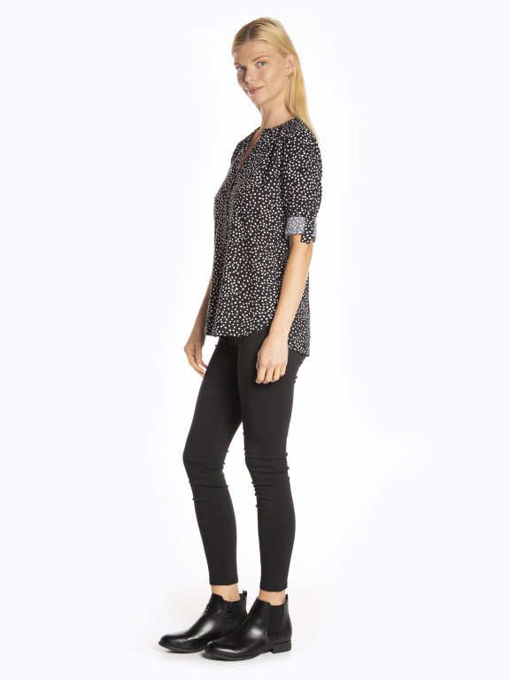 Printed viscose blouse