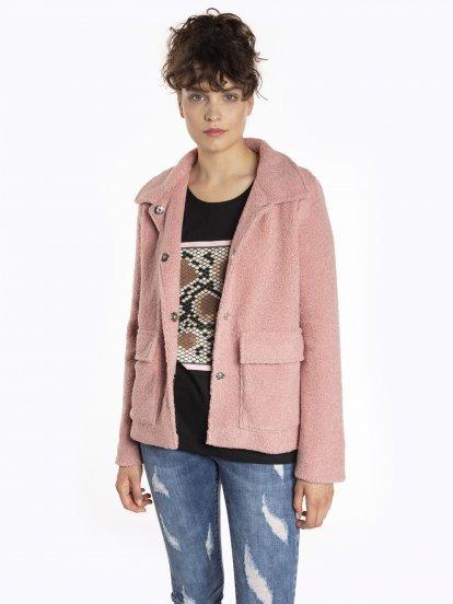 Fuzzy boxy jacket