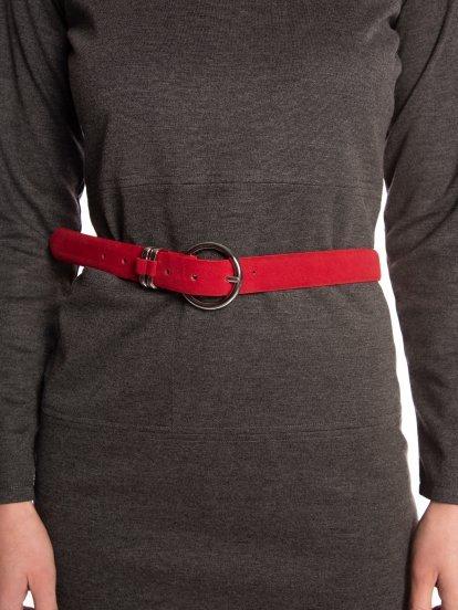 Faux suede belt