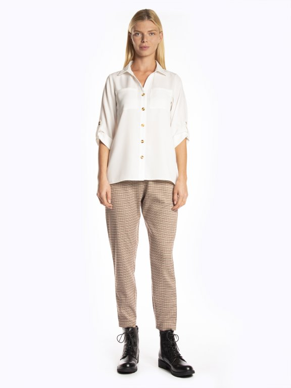 Loose fit blouse with chest pockets