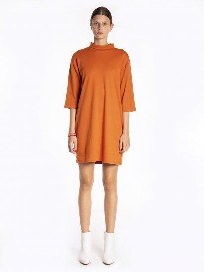 Oversized turtleneck dress