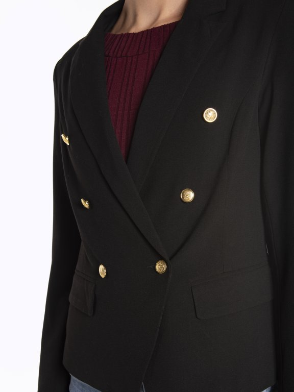 Double breasted military blazer