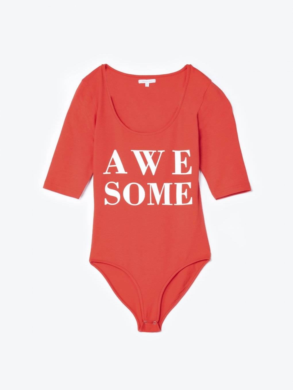 Message print bodysuit