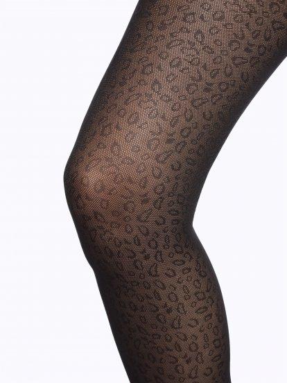 Punčochy s leopardím vzorem