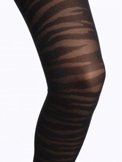 Zebra pattern tights