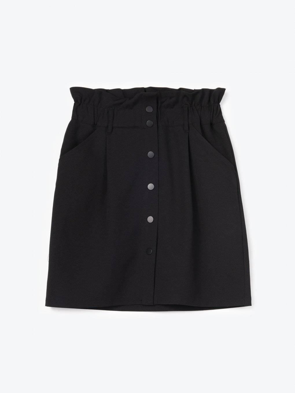 Sukňa s vysokým pásom a zapínaním na gombíky