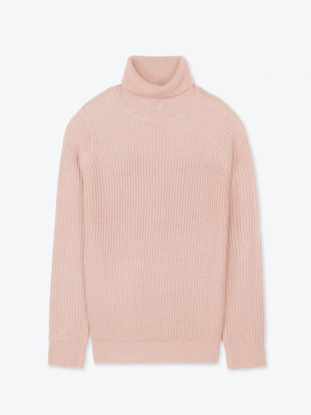 Rib-knit roll neck jumper