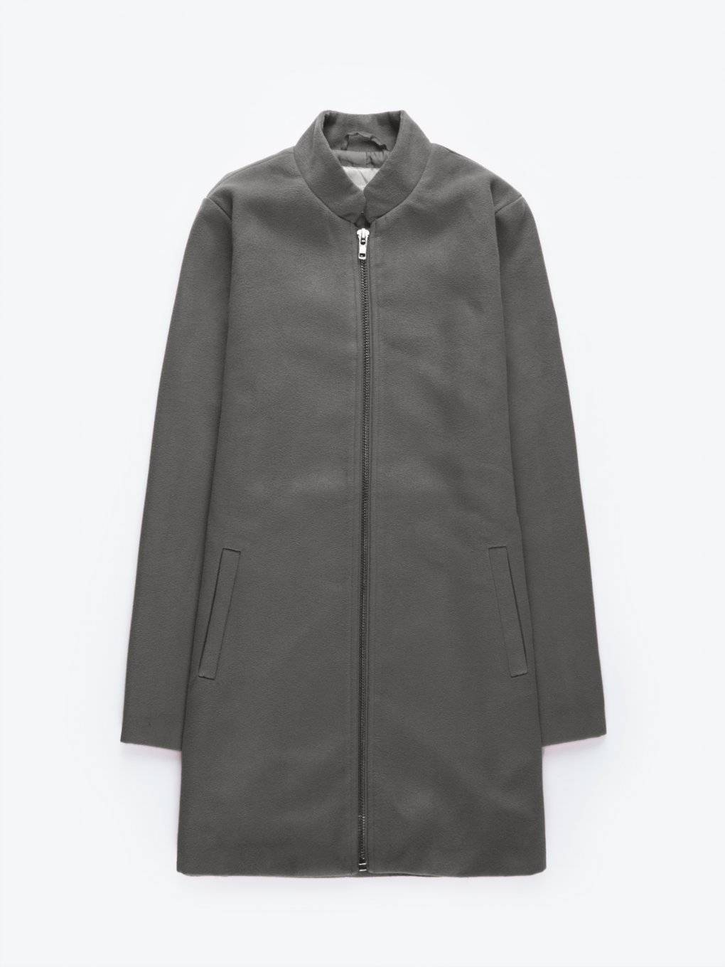 Zip-up coat